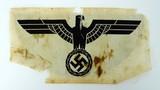 Nazi Sports Eagle cut from a shirt (MM962)