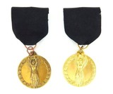 Two Blank Female Achievement Medals (MM985)