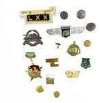 """""""Lot of Assorted Badges, Pins, Buttons, and Cap Devices (MM987)"""" - 1 of 1"""