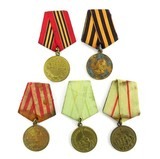 Soviet WWII Variation 1 Defense and Victory Medals (MM1001)