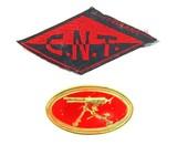 Rare Spanish Civil War Anarchist Trade Union Patch and Hotchkiss Machine Gunner Badge (MM1007)