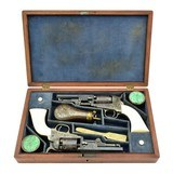 Beautiful Double Cased Set of Factory Engraved Colt 1849 Pocket Revolvers (C14625) - 1 of 11