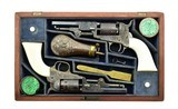 Beautiful Double Cased Set of Factory Engraved Colt 1849 Pocket Revolvers (C14625) - 9 of 11