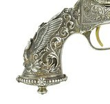 New York Engraved Tiffany Gripped Colt 1862 Pocket Navy Conversion (C14633) - 6 of 12