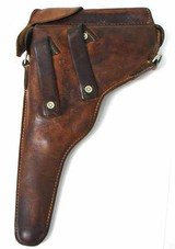 Swiss military luger holster.