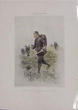 Chasseurs A Pied. - Sergent-Major, Tenue De Campagne 1885 Reprints(MM123)