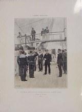 Vice-Amiral, Lieutenant De Vaisseau, Aspirants, Fusiliers Marins Tenue De Service 1885 Reprints(MM122)