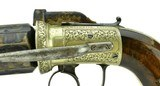 """""""Beautiful Dragoon Size British Pepperbox by W.A.Beckwith. (AH5006)"""" - 5 of 7"""