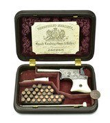 Cased Factory Engraved Silver Plated Remington Vest Pocket Pistol (AH4991) - 2 of 8