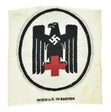 German WWII Embroidered Red Cross Uniform Emblem (MM1226)