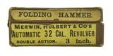 Merwin & Hulbert Folding Hammer .32 (AH5190) - 1 of 4