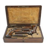 """Cased Pair of Devisme Style Double Barreled Percussion Pistols (AH5881)"" - 2 of 14"