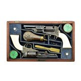 """""""Beautiful Double Cased Set of Factory Engraved Colt 1849 Pocket Revolvers (C14625)"""""""