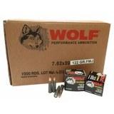 """1000 RD Case of 122gr FMJ 7.62x39 Wolf Ammo (AM3)"""