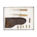 """""""Lot of English Knives, Cowboy Rounds and Holster (MM1414)"""""""