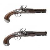 """Beautiful Pair of French Flintlock Pistols by Antoine Dumarest (AH6513)"""
