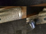 John Dickson , Edinburgh .16 bore round action ejector with damascus barrels . Made 1905 - 3 of 9