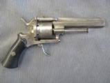6 Shot 10mm Pinfire Revolver, Handsome Restrained Scroll Work, Tight Action, Belgian Manufacture - 1 of 5