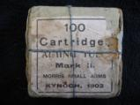 Morris Aiming Tube 100 Cartridges 22 Centerfire Mark II Kynoch, Lee Metford, Lee Enfield