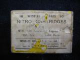 Westley Richards .318 Nitro Cartridges For Express Rifle, 250 Grain Solid Bullet, Kynoch Manufactured