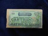 An Early Unopened Eley Tin, 50 Rounds 380 Centerfire Rifle Cartridges, In It's Original Outer Wrapper - 1 of 4