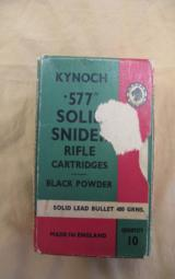 Kynoch 577 Solid Snider Black Powder Rifle Cartridges, 10 Rounds - 2 of 3