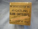 .45 Winchester Gatling Gun Orignal Box, 25 Blank Cartridges, Sealed Box - 1 of 4