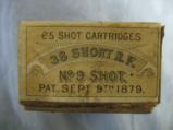 American Metallic Cartridge Co. 25 Shot Shell Cartidges, 38 Short Rim Fire, No. 9 Shot, 1879 - 2 of 3