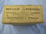 A Two Piece Box Of Crittenden & Tibbals Metallic Cartridges For The Spencer & Joslyn Carbine, Full - 1 of 3