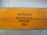 Colt 44 Rifle Cartridges By Winchester, Sealed, 50 Solid Head, Center Fire Reloading - 2 of 4