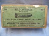 Colt 44 Rifle Cartridges By Winchester, Sealed, 50 Solid Head, Center Fire Reloading