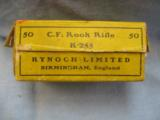 50 Kynoch Rook Rifle Cartridges In .225 C. F., Two Piece Box - 2 of 4