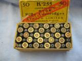 50 Kynoch Rook Rifle Cartridges In .225 C. F., Two Piece Box - 3 of 4