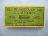A Two Piece Box Of Winchester .41 Short Rifle Cartridges - 1 of 5