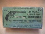 Winchester .45 Caliber Center Fire Metallic Cartridges For Colt's Double Action And Single Action Army Revolvers