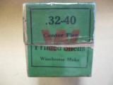 Winchester Two Piece Box, .32- .40 Center Fire Primed Shells, Model '94, Single Shot Rifles, Ballard, Marlin - 4 of 4