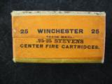 Winchester .25 - 25 Caliber Stevens Center Fire Cartridges, Factory Sealed, 25 Rounds - 2 of 6