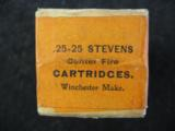 Winchester .25 - 25 Caliber Stevens Center Fire Cartridges, Factory Sealed, 25 Rounds - 5 of 6