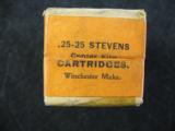 Winchester .25 - 25 Caliber Stevens Center Fire Cartridges, Factory Sealed, 25 Rounds - 3 of 6