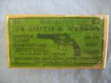 .38 Smith & Wesson, Center Fire Cartridges, Winchester Repeating Arms, Two Piece, Excellent