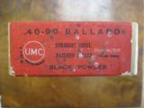 Remington/UMC .40-90, 10 Ballard Patched Black Powder Rifle Cartridges, Sealed Two Piece Box - 4 of 4