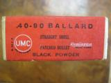 Remington/UMC .40-90, 10 Ballard Patched Black Powder Rifle Cartridges, Sealed Two Piece Box - 2 of 4