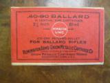 Remington/UMC .40-90, 10 Ballard Patched Black Powder Rifle Cartridges, Sealed Two Piece Box