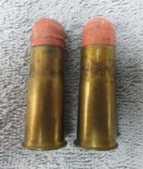 A Rare Pair Of .577 Snider Shot Cartridges, From The Dominion Cartridge Co.