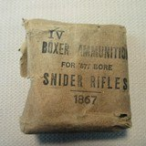 .577 Snider Rifle 1867 Boxer Ammunition Packet - 1 of 3