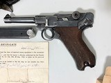 Mauser Luger 1937 All Matching w/ Bring Back Paper, Holster, 2 Mags (not matching), Ammo - 2 of 14