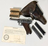 Mauser Luger 1937 All Matching w/ Bring Back Paper, Holster, 2 Mags (not matching), Ammo - 1 of 14