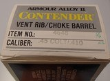 Thompson Center CONTENDER barrel ARMOR ALLOY 10 inch 45 COLT 410 shotgun - 2 of 5