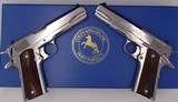 Colt CUSTOM SHOP pair 1991A1 consecutive serial numbers HIGH POLISH stainless 1911
