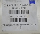 ZEISS Diavari V 1.5-6x42 T* reticle #11 Germany - 2 of 13